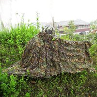 Wholesale Retail Military Camouflage Hunting Ghillie Suit Set Hunting Clothing D Camo Bionic Leaf Shade Cloth Jungle Woodland Poncho ME0047