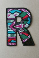 al por mayor letra bordada por mayor parche-Acepte la alta calidad de encargo patrón de las letras de lujo 2016 Patches bordados al por mayor