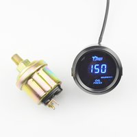 Precio de Pressure sensor-Aceite Universal Digital los 52MM LED azul Indicador de presión del coche de competición Gauge modificado con el sensor que envía libremente
