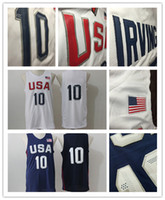 Wholesale 2016 Mens USA Basketball Jersey Player Cheap Basketball Jerseys White Blue Jersey Basketball All Stitched