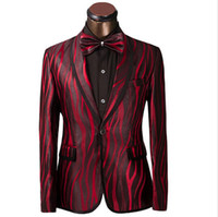 zebra print - Luxury Men Suit Unique Red Zebra Pattern One Button Suit Jacket Slim Fit Prom Suits Tuxedo Brand Wedding Party Blazer Jacket