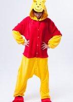 Wholesale New Hot Sell Promotion Unisex Adult Pajamas Kigurumi Cosplay Costume Animal Onesie Fleece Animal Sleepwear styles Winnie the Pooh