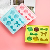Wholesale DIY Funny Candy Bake Maker Ice Tray Silicone Mold Ice Cube Tray Chocolate Fondant Mold Death Tool Mix Color