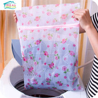 Wholesale Floral Pattern Nylon Mesh Net Laundry Bags Lingerie Clothes Bra Underwear Socks Protect Washing Bags