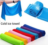 bath faces - Cold Towel coolings Towel Exercise Sweat Summer Sports Ice Cool Towel PVA Hypothermia sportsTowel color Single layer retail