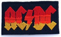 ac vest - AC DC ACDC Rock Band Biker Vest Patch EMBROIDERED Sew on IRON On Patch heavy metal APPLIQUE Rock Punk Badge