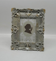 antique silver finish - 4x6 quot and x7 quot Kate Silver Antique finish Picture Frames Rectangle Creative Resin Photo Frame with Classic Hollow up Around Edging Design
