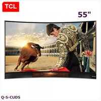 Wholesale TCL inches Curved surface quantum dot LCD TV Smart TV Ultra HD K TV stereo base