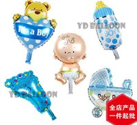 baby toys balls - Baby Shower Boys Girls Holiday Decorations Foil Balloons Stroller Helium Balls Birthday Party Supplies HJIA661