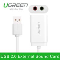 audio linux - Ugreen External USB to Audio USB Sound Card Adapter Professional Microphone Headset mm for Win XP Android Linux