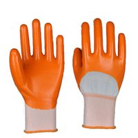 nitrile coated gloves - 13Gauge Seamless Polyester Coated Industrial Nitrile Glove Protective Gloves Nitrile Protective Working Glove Natural Nitrile Glove