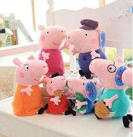 Wholesale One Set cm cm Pig Plush Toy George Family Mom Dad Grandparents Stuffer Plush Toy Pink Pig Doll Cartoon Figure