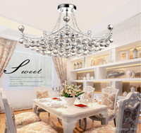 Wholesale European low key luxury LED crystal chandeliers LED interior crystal chandeliers Continental restaurant lights living room lamps