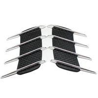 alloy truck bodies - 2Pcs Shark Gills Car Styling D Vent Air Flow Fender Chrome Alloy Metal Sticker Decal Car or Truck Custom Stickers