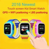 Wholesale GPS GSM Tracker Smart Watch for Kids Children Touch Screen With SOS Support GSM Phone Android IOS Anti Lost Q60 Hot