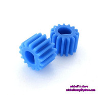 Wholesale 10pcs Blue plastic gear modulus teeth main shaft gear N20 motor gear for mm D type shaft