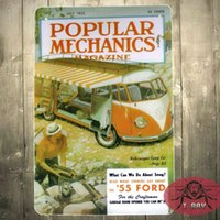 auto mechanics shops - TIN Plate sign Popular Mechanics Metal Decor Wall Art Auto Shop Garage B
