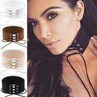 american torque - Fashion velvet ribbon chocker necklace women black Sexy autumn winter brown torque white Vintage accessories