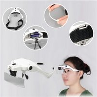 Wholesale 1 X X X X X Magnifier Loupe Magnifying Glasses With LED Lights Lamp