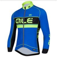 Wholesale Long Blue ALE Cycling Shirt for Men Full Sleeves Bike Jerseys Quick Dry Bicycle Clothes Cycling Tops Breathable Mesh Clothing