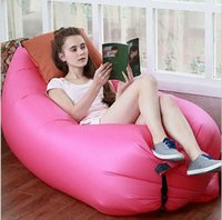 barrel furniture - Nylon material inflatable furniture hangout air bed inflatable folding plastic air bed swim floating air bed mattress