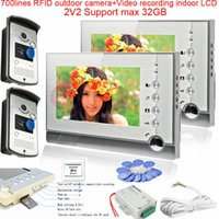 apartment definition - 2v2 High Definition Camera Multi Apartment Video Door Phone Intercom System Video Recording RFID cards unlocking Max GB