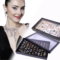 attractive storage boxes - Attractive New Jewelry Ring Display Tray Velvet Pad Box Slot Insert Holder Case Ring Storage Display Box Organizer AG3