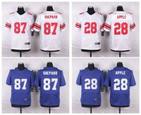 apples number - Eli Apple Sterling Shepard Jerseys Number Blue White Elite Cheap embroidery Mix Order