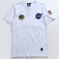 hip hop clothing - Harajuku NASA T Shirt Men Fashion Summer Cotton Hip Hop Tees Brand Clothing Palace Yeezus OFF WHITE Men Tops