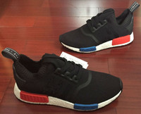 big red sport - Big Size eur NMD Boost S79168 Primeknit with Nipples black blue Red Men Women Sports Outdoors boost men Athletic Running shoes