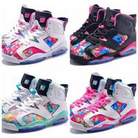Wholesale Ladies Fashion Trainers - Womens basketball shoes Girls Fashion retro j 6 sport sneakers shoes ladies brand trainers Free Shipping 36-39