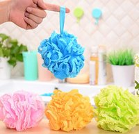 bath tub size - 5pcs set Multicolour Lace Big Size shower sponge bath tubs Cool ball bath towel scrubber Body cleaning Mesh Shower wash Sponge