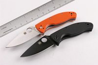 Wholesale Hot Spyderco C122 Military Folding Knives Tenacious G10 Handle cr13mov Tactical Camping Hunting Survival Pocket Knives Utility EDC Tools
