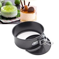 Wholesale 4 inch CM Mini Cheese cake Quiche Springform Pan cake mold Baking Tools BLACK Detachable live bottom cake pan HY731