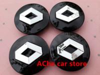 Wholesale 4pcs mm Black Renault car emblem Wheel Center Hub Caps Dust proof Badge logo covers Auto accessories