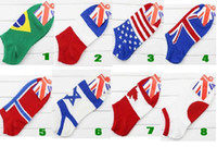 adult slipper pattern - adult man women new national flag pattern socks USA UK CA FR JA style for choose cute low cut ped Socks