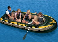 Wholesale INTEX Seahawk person inflatable boat fishing boat kayak x145x48cm green color thick material