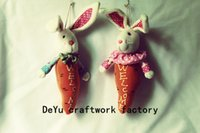 Wholesale 26cm Radish rabbit hanging ornament Cute Easter Chirstmas Day Thanksgiving Day