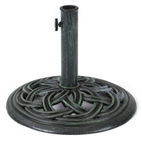 Wholesale IKAYAA LB Cast Iron Patio Garden Umbrella Base Stand High quality Rust free US STOCK H16814