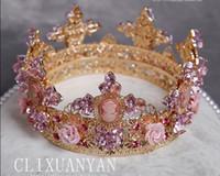 ballet tiara - European court circular queen tiara ballet crown of crown of marriage wedding dress wedding hair accessories
