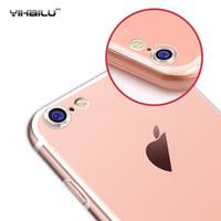 Acheter Caméras minces-Pour Apple iPhone 7 TPU Housse souple Protégez Housse D'appareil-photo Transparent Transparent Silicium Ultra mince Coque mince pour iPhone7 Plus 4.7