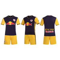 Wholesale 16 Red bulls away soccer sets no brands have the team logos style soccer uniforms