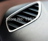 Cheap Auto interior air conditioning vent trims for Mitsubishi Outlander 2013, stainless steel e,auto accessories,2pcs trim pvc