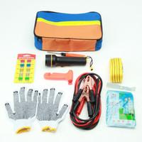 auto gear equipment - Car Emergency Kits Tool Boxes Auto Roadside Emergency Tool Supplies Kit Bag Flashlight Car Breakdown Safety Equipment Survival Gear