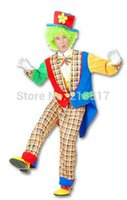 adult clown suit - Halloween Party Cosplay costumes clown costumes Tuxedo suit for adults and kids Dress Up Performance wear