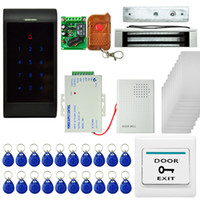 access kit - Electric Magnetic Password ID Card Door Access Control RFID System Kit Single Entrance Guard Set with remote control to open the door