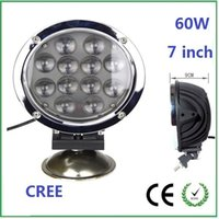 agricultural machines - 7 inch w CREE Led Work Light driving light For Jeep Truck Agricultural Machine Heavy Duty Boat Marine Round frame
