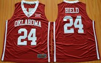 Wholesale 2016 Oklahoma Sooners Buddy Heild Hype Elite College Basketball Jersey Red Color Embroidered Jerseys Free Drop Shipping