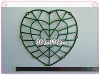 Wholesale Wedding props flower rack plastic heart shaped l for home decoration accessories cm