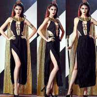 ancient egyptian costumes - Special Design Women Halloween costume dresses Sexy ancient Egypt Egyptian queen retro Greece goddess Game cosplay Costumes Dress